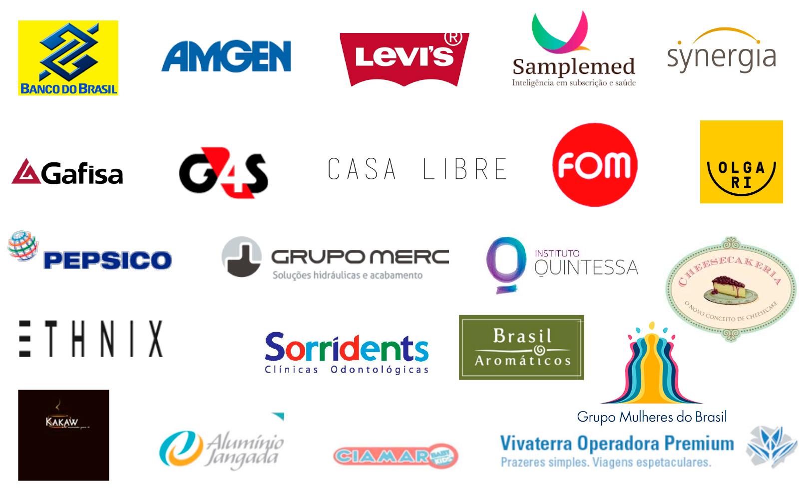 Lista de clientes corporativos da Mão na Roda